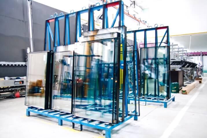 Transportrek hoogrendementsglas