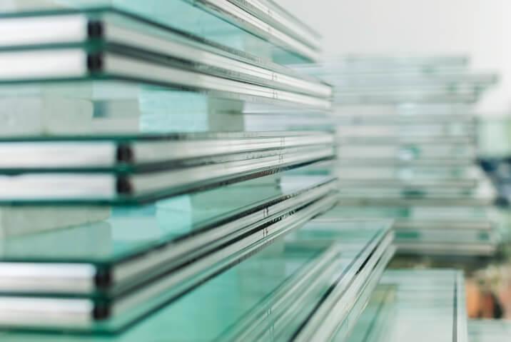 hoogrendementsglas in fabriek